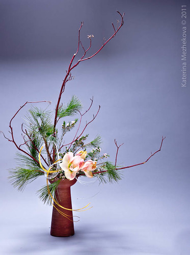 New Year Ikebana arrangement from my workshop