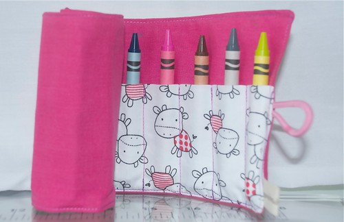 girls crayon roll by Samantha Halliwell