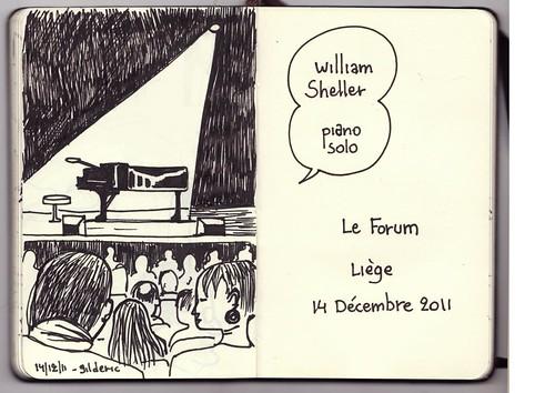 William Sheller - Piano Solo (Le Forum, Liège, 14/11/2011) - Dessin : Gilderic