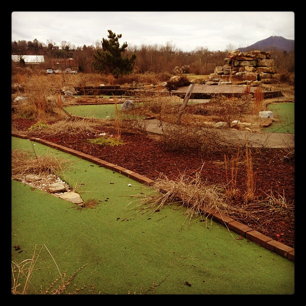 I saw an abandoned putt-putt course.