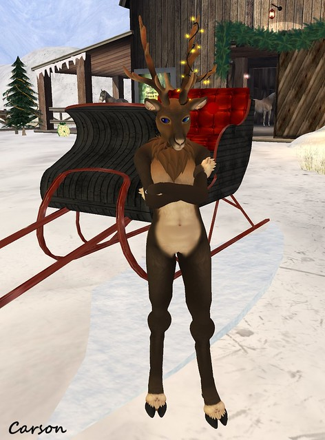 DERP - Mesh Reindeer Avatar dark brown