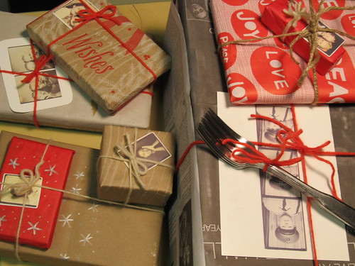 recycled gift wrapping