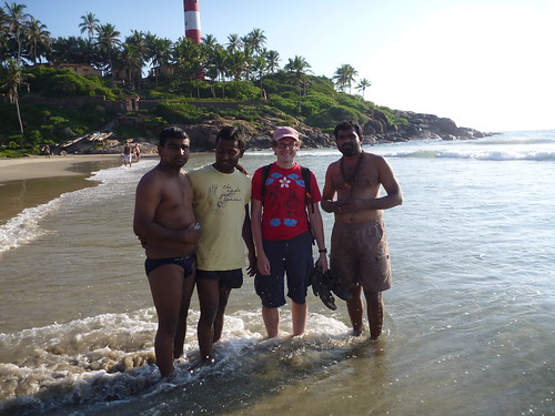 Col posing with locals.  In their pants.