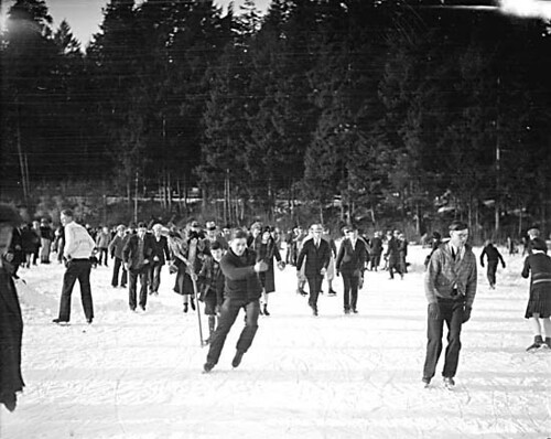 Skaters at Lost Lagoon 1929