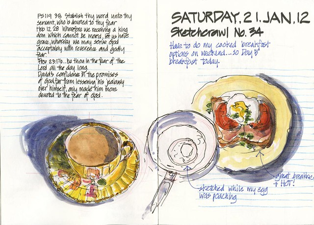 120121 Sketchcrawl 34_01 Breakfast
