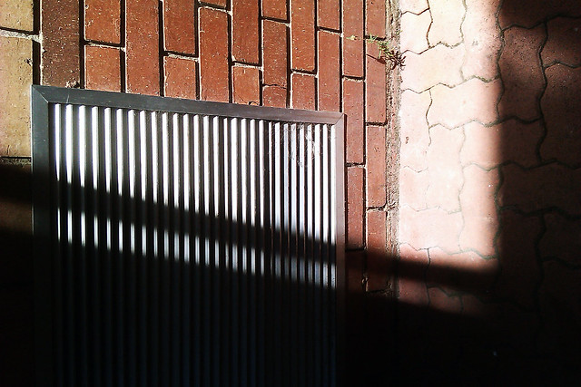 Take a photo of something's shadow in a way that makes it difficult to identify the object - Unknown shadow against wall