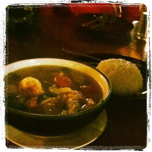 TOM YUM KUM hot and sour shrimps soup