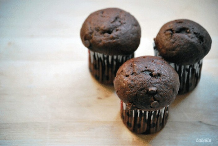 muffins de chocolate estilo starbucks