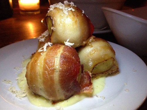 Bacon wrapped matzoh balls