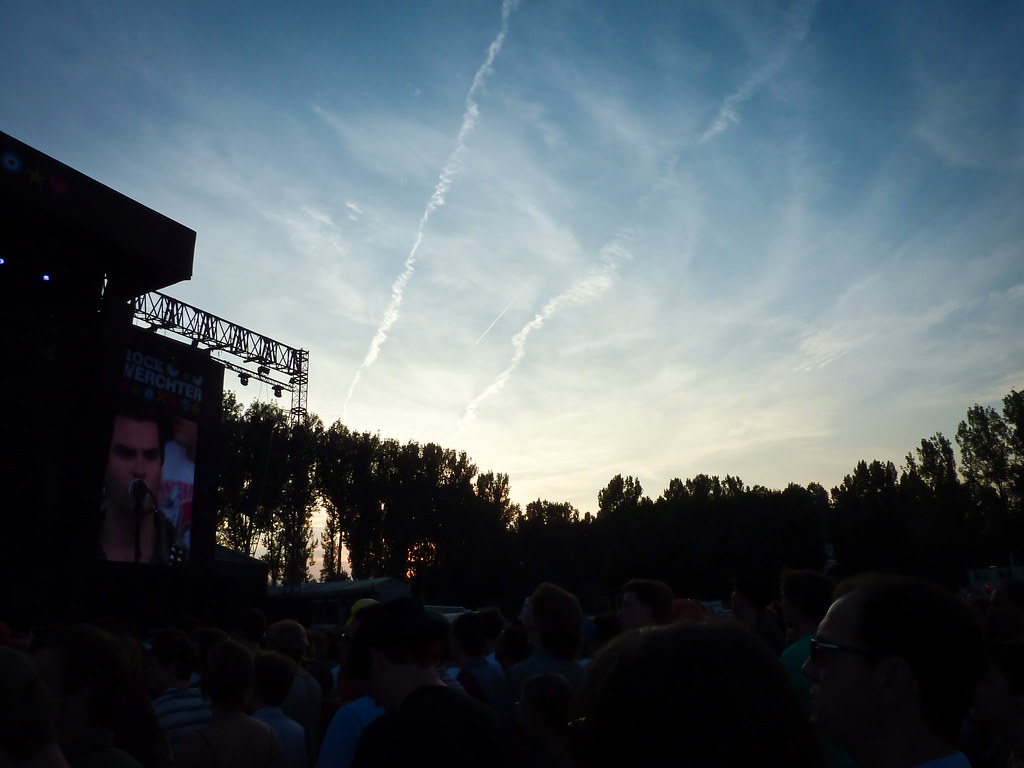 sunset @ werchter
