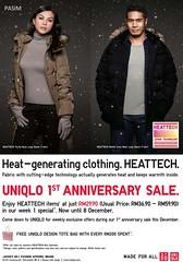 UNIQLO 1st Year Anniversary Promotion 2 - 29 Dec 2011