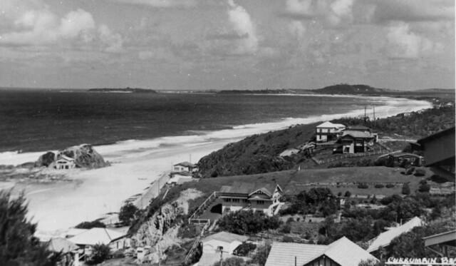Currumbin Beach on the Gold Coast, Queensland, ca. 1938