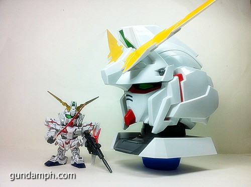 Banpresto Gundam Unicorn Head Display  Unboxing  Review (56)