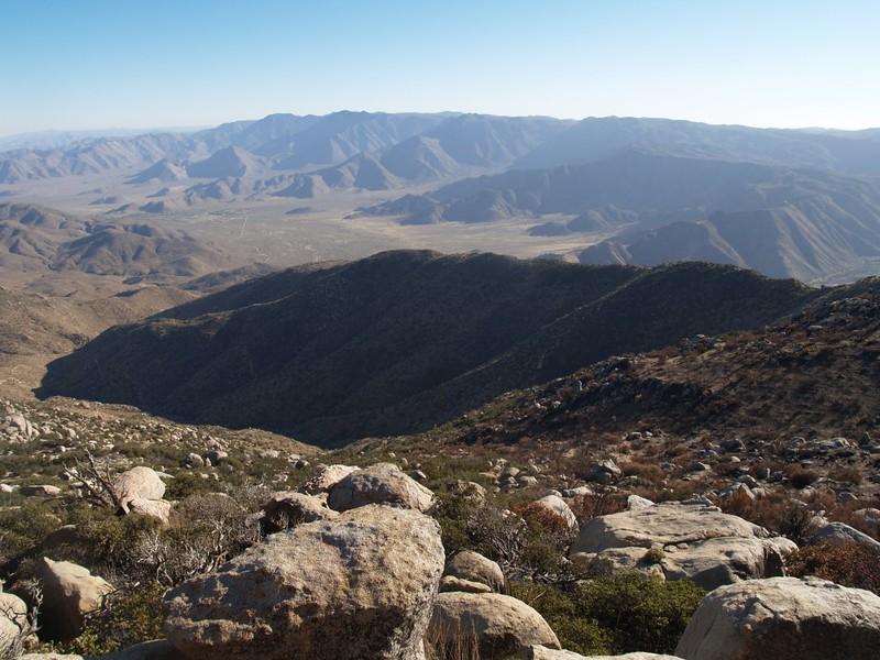 View south toward the Laguna Mountains.