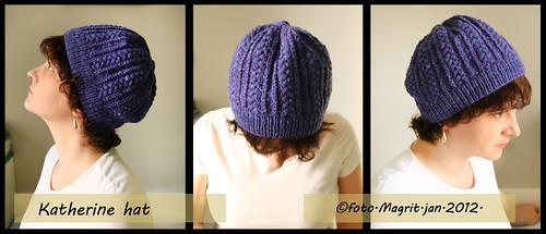 violet Katherine hat - trio