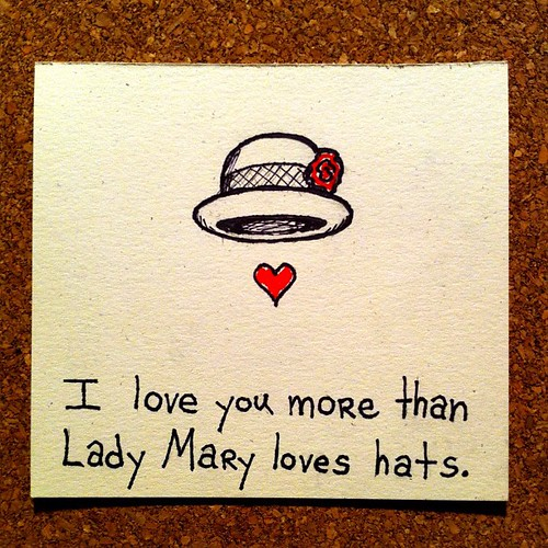 I made a Downton Abbey Valentine's Day card. by CMYBacon