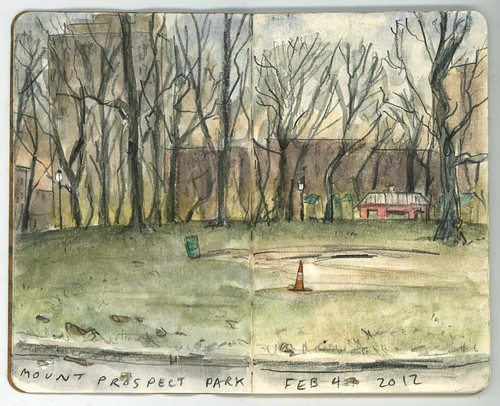 Thing-a-Day: Mount Prospect Park, Dusk