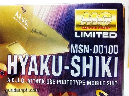 MG 1-100 Hyaku Shiki HD Color Limited Version Edition Gundam PH (22)