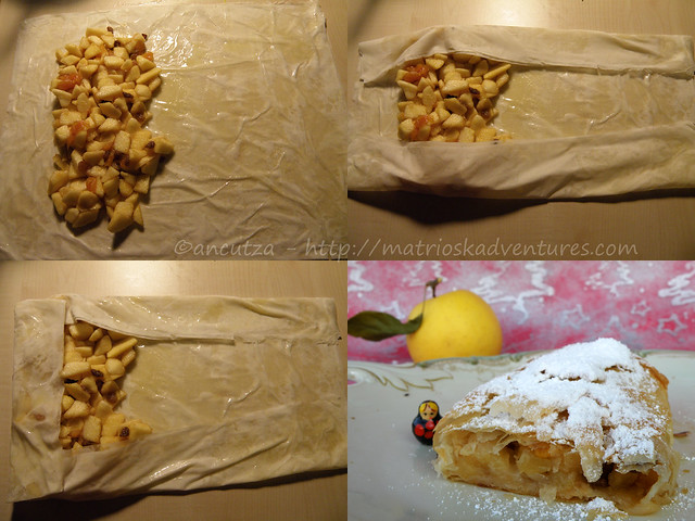 ricetta con foto preparazione strudel di pasta fillo alle mele e spezie