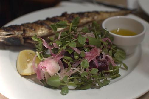 Chargrilled mackerel