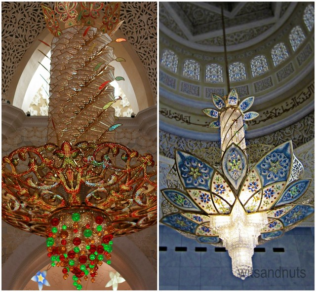 Chandeliers in Sheikh Zayed Grand Mosque