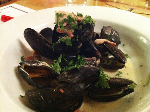 Mussels from the English Market cooked with bacon and Ireland's own Stonewell Cider