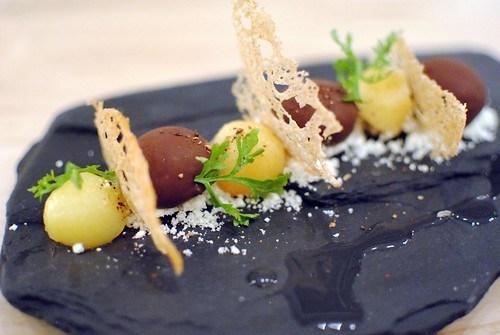 foie gras bon bons, quince, tonka bean, Szechuan peppercorn2