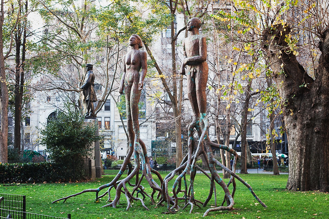 Madison Square Park - Alison Saar Feallan and Fallow