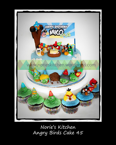 Norie's Kitchen - Angry Birds Cake 45 by Norie's Kitchen