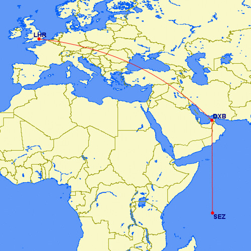 Seychelles Route to Europe