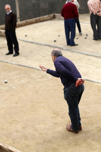 Old Men playing Bocce / Bochas, Barcelona, Spain