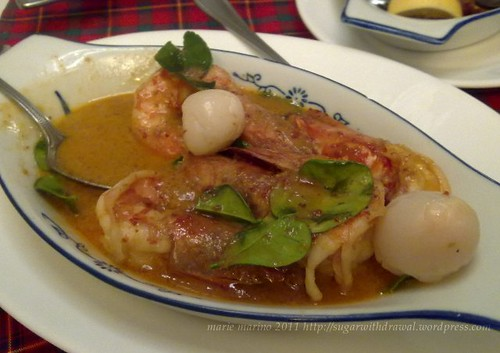 Pendy's Curry Shrimp with Lychee Sauce