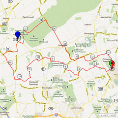 15. Bike Route Map. Princeton NJ
