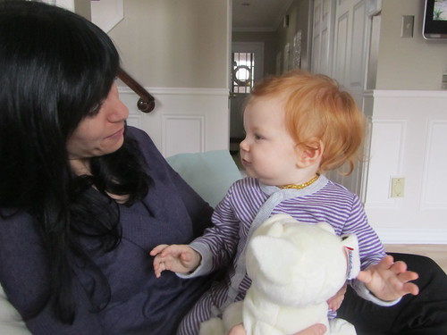 With aunt Laura