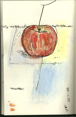 apple on mat by jmignault