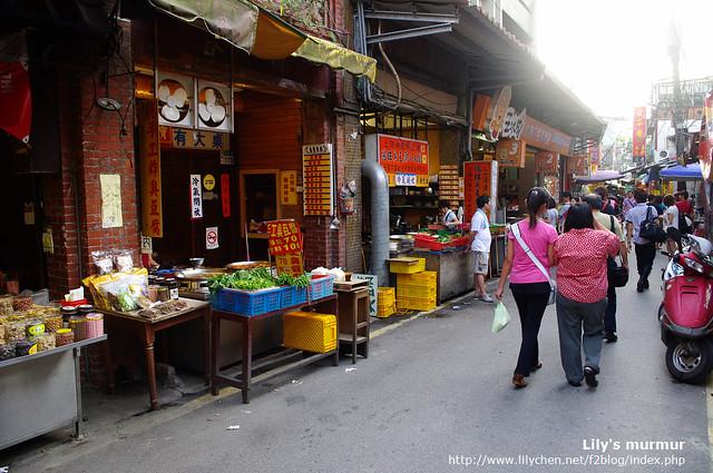 深坑老街一景,豆腐美食林立。