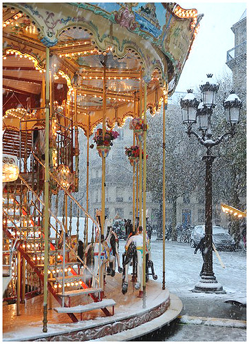 Carousel in the Snow