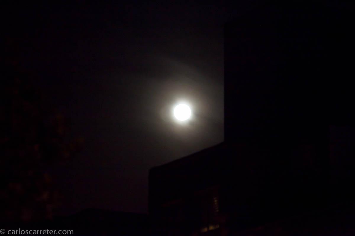 La luna y la niebla
