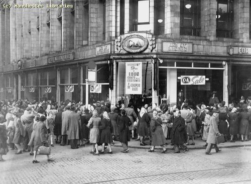 January Sales, C&A Manchester, 1948