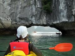 Kayaking Through a Cave
