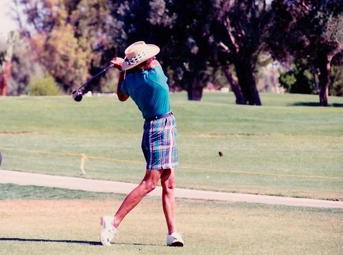 Nancy Kindel golfing