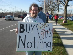 Occupy Long Island: Buy Nothing Day sign