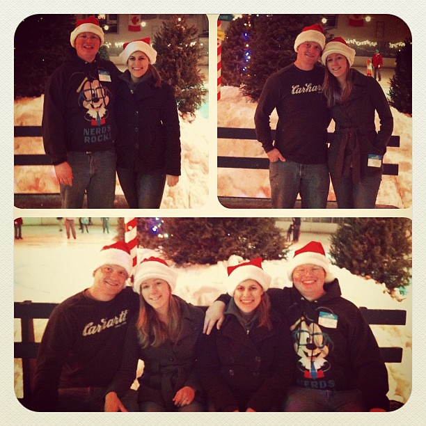 Ice skating with the Robinson couples