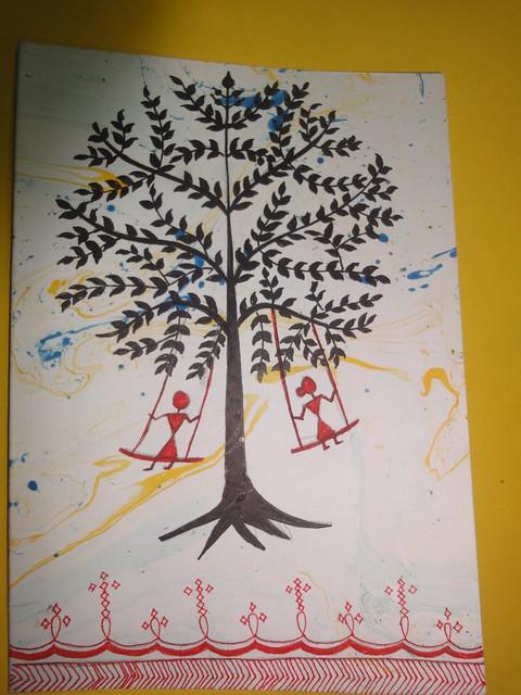 Warli Inspired New Year Card 2