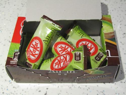 Air In Green Tea Kit Kats (Japan)