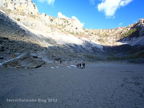 The amazing, dry lake