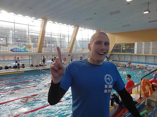 Pál Joensen happy with his Szczecin 2011 400 freestyle