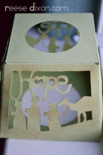 Papercut Nativity Tree Tutorial Step 5