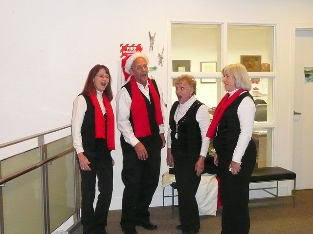 Christmas Carollers at the Pence Gallery