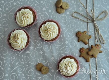 Gingerbread Cupcakes with Egg Nog Buttercream
